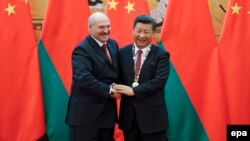 Аляксандар Лукашэнка састаршынём КНР СіЦзіньпінам