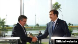 На мероприятиях в Батуми в выступлениях президента Саакашвили зазвучала новая тема