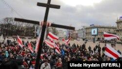 Акцыя за незалежнасьць, супраць інтэграцыі з Расеяй. Менск, 8 сьнежня 2019