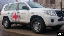 A vehicle of the International Committee for the Red Cross