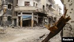 Разрушенные здания в Хомсе