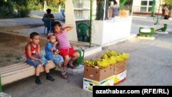 Уличная торговля, Туркменистан (иллюстративное фото)