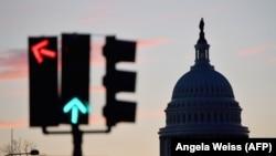 Washington, în ajunul inaugurării președintelui Joe Biden și a vicepreședintei Kamala Harris, 19 ianuarie 2021.
