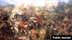 Так уявляв собі Грюнвальдську битву польський художник Ян Матейко
