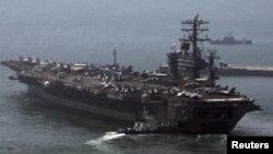 Arxiv fotosu. ABŞ-ın təyyarə daşıyan gəmilərindən biri.