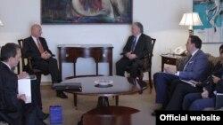 Armenia- Foreign Minister Edward Nalbandian meets with Poland Deputy Foreign Minister Tomasz Orlowski, Yerevan, 16Sept2014.