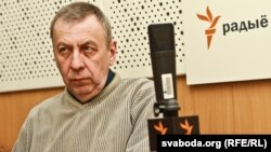 Андрэй Саньнікаў у студыі Радыё Свабода