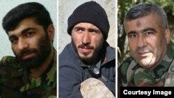 از راست: علی حسین بلحص، روحالله قربانی و قدیر سرلک