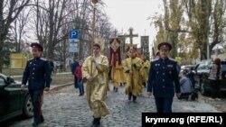 Хресна хода в пам'ять річниці «Русского виходу», Крим, Севастополь. 17 листопада 2019 року