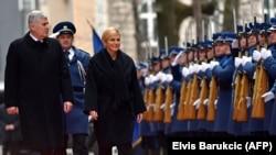 BiH zaslužuje Vašu pažnju: Čović (na fotografiji: Dragan Čović i Kolinda Grabar-Kitarović)