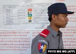 Один из избирательных участков в Мьянме в день голосования 8 ноября
