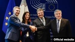 Церемонія підписання рішення ЄС про запровадження безвізового режиму для громадян України. Брюссель, 17 травня 2017 року