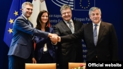 Եվրամիության և Ուկրաինայի միջև ազատ վիզային ռեժիմի համաձայնագրի ստորագրման արարողությունը, Բրյուսել, 17-ը մայիսի, 2017թ․