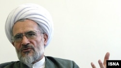 Ayathollah Bayat Zanjani, high ranking Iranian cleric, File photo from 2008.