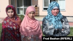 Eighteen-year-old Mumtaz (right) with Sahar Gul (center) and Gulsika, all of whom garnered media attention for their stories of abuse