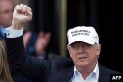 АҚШ президенттігіне республикалық партиядан кандидат Дональд Трамп.
