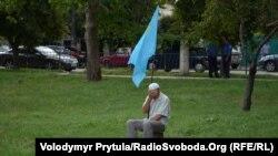 Під час мітингу, Сімферополь, 23 серпня 2013 року