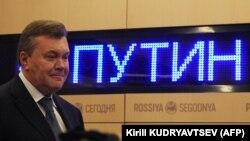 Віктор Янукович під час пресконференції у Москві, 6 лютого 2019 року