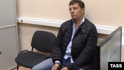 Ukrainian journalist Roman Sushchenko in Moscow after being charged with espionage