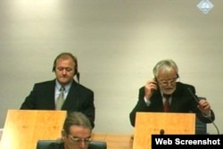 Vinko Martinović Štela i Mladen Naletilić Tuta tokom suđenja u Hagu, arhiv