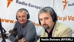 Arcadie Barbăroșie (IPP) și Doru Petruți (IMAS) la microfonul Europei Libere