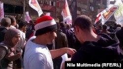 محتجون في شوارع القاهرة