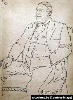 Пабла Пікаса «Партрэт Леона Бакста» (1922)