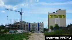 Строительство возле детского санатория «Родина»