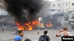 Սիրիա - Տարտուսում պայթյունի հետևանքով բռնկված հրդեհը, 23-ը մայիսի, 2016թ․