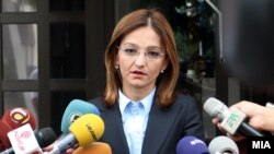 Macedonia - Minister of Interior Affairs Gordana Jankulovska, Skopje, 3Sep2010