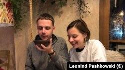 Леонид Пашковски и съпругата му Марина Лазаркович