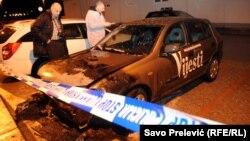 Kola redakcije Vijesti 13. februara 2014. godine u Podgorici