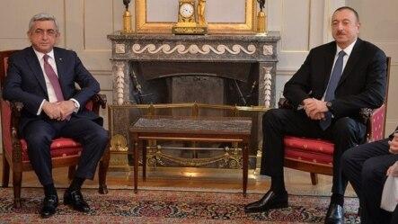 Серж Саргсян (слева) и Ильхам Алиев, Берн, 19 декабря 2015 г.