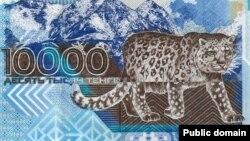 Банкнота в 10 тысяч тенге.