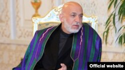 """""""If the intention was peace, then this shouldn't have been done,"""" former Afghan President Hamid Karzai said of the drone strike that killed former Taliban leader Mullah Akhtar Mansur. (file photo)"""