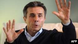 Բիձինա Իվանիշվիլին Թբիլիսիի իր առանձնատանը հարցազրույց է տալիս France-Presse-ին, 20-ը հոկտեմբերի, 2013թ․
