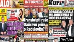 Naslovnice srpskih tabloida