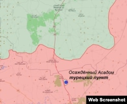 Карта боевых действий в провинции Идлиб на конец августа – начало сентября 2019 года