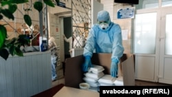 A Vitsebsk restaurant prepares free lunches for doctors during the pandemic.