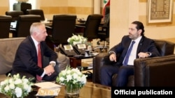 Встреча премьер-министра Ливана Саада Харири с послом Армении в Ливане Ваагном Атабекяном, Бейрут, 19 февраля 2019 г.
