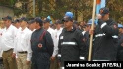 Sa jedne od vežbi pripadnika ilegalne Civilne zaštite na severu Kosova, novembar 2012.