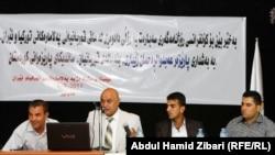 محامون وناشطون أثناء الإعلان عن حملة لرفع دعوى قضائية ضد الحكومة التركية
