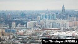 """Москва с высоты одного из небоскребов """"Москва-сити"""""""
