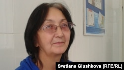 Адвокат из Балхаша Зинаида Мухортова. Астана, 8 октября 2013 года.