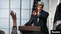 U.S. Senator John Kerry during a news conference in Islamabad earlier this month. He had traveled to Pakistan for meetings aimed at getting the relationship between the two countries back on track.