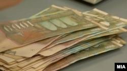 Банкноти по 1000 денари. Илустрација.
