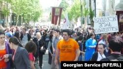 Tbilisidə antigey etirazı, 17 May 2013