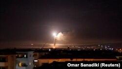 Ракетний обстріл у Сирії, вид із Дамаска, 10 травня 2018 року