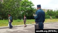 Сотрудник ташкентской милиции. Иллюстративное фото.