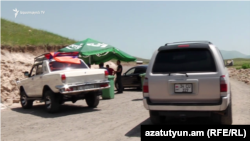 Armenia -- Protesters block a road leading to Amulsar mine, July 2, 2018.